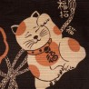 Furoshiki Japanese cloth 50x50 brown - Maneki Neko