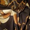 Furoshiki 50x50 marron - Maneki Neko. Carré de tissus japonais.