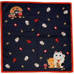 Furoshiki cloth 50x50 dark blue - Maneki Neko