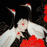 Furoshiki Japanese cloth 50x50 black - Tanchō cranes