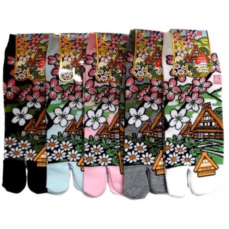 Chaussettes japonaises Tabi - Du 35 au 39 - Minka. Chaussettes à orteils.