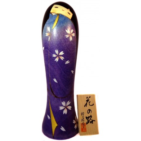 Kokeshi doll - Hana no Michi.  Japanese wooden dolls.