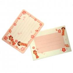 Mini set lettres Kokeshi