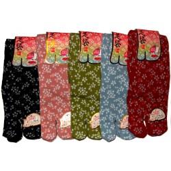 Crew Tabi socks - Size 35 to 39 - Sakura prints