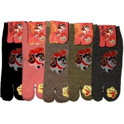 Tabi socks - Size 35 to 39 - Inu-Hariko print