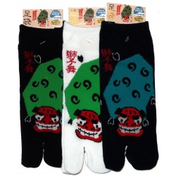 Tabi socks - Size 39 to 43 - Shishimai print