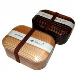 Lacquered wood bento lunch box