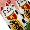 Chaussettes 5 orteils mi-mollet - Du 35 au 39 - Motifs de Manekineko
