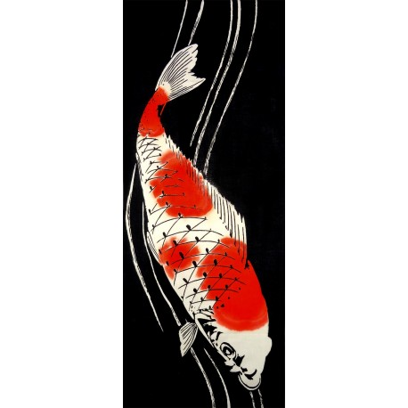 Tenugui - reversible - Koi Carp. Japanese cloths and textile.