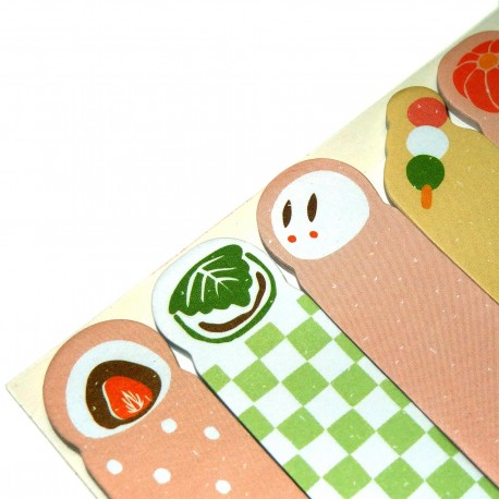 Wagashi sticky bookmarks. Buy japanese stationery products.