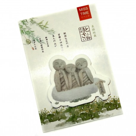 Ryoen  Jizo sticky memo. Japanese stationery shop.