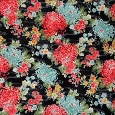 Textile cut 200 x 110 cm - Kiku print