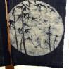 Noren indigo en lin - Bambous