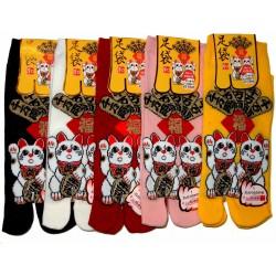 Tabi socks - Size 35 to 39 - Manekineko prints