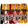 Split toes Tabi socks - Size 35 to 39 - Manekineko prints