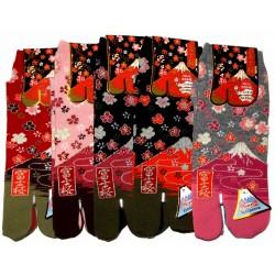 Chaussettes japonaises Tabi - Du 35 au 39 - Fuji Sakura