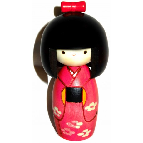 Kokeshi doll - Spring breeze. Japanese wooden dolls.