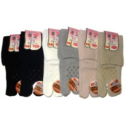 Chaussettes Tabi mi-mollet - Du 35 au 38 - Antidérapants couleur unie