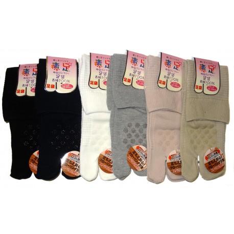 Chaussettes Tabi mi-mollet - Du 38 au 38 - Antidérapants couleur unie