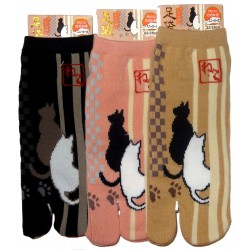 Tabi socks - Size 35 to 39 - Cats prints