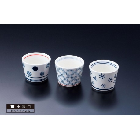 Choko - Sake's cup. Japanese tableware and ceramic.