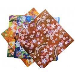 Papier origami 15 x 15 cm - 28 feuilles motifs 4 saisons