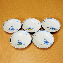 Assiettes 12cm Aritayaki - 5 pcs - motifs Karako