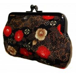 Chirimen coin purse - Tsubaki