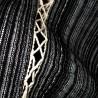 Tunique japonaise Jinbei 96 noir chiné - Taille M - Coton