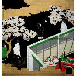 Furoshiki 50x50 noir - Genji Monogatari