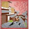 Furoshiki 50x50 Sakura - Tama no Sanpo. Japanese cloths and fabrics.