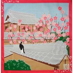 Furoshiki cloth 50x50 Ume - Tama no Sanpo
