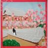 Furoshiki 50x50 Ume plum blossoms. Japanese cloths and fabrics.