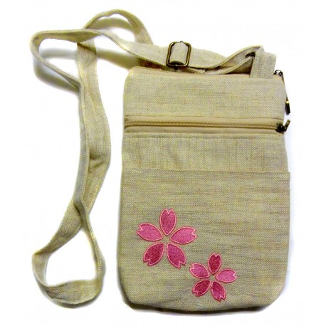 Shoulder pouch - Sakura. Japanese fashion accessories.