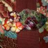 Tote Bag Koto Asobi - Red and burgundy