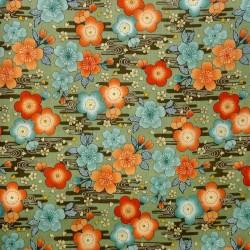 Tissu 200 x 110 cm - Motifs de Ume
