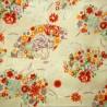 Textile cut 200 x 110 cm - Ôgimon print. Japanese cloth and fabric.