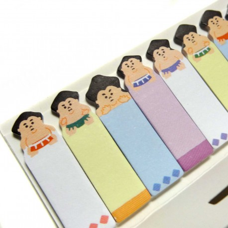 Sumotori sticky bookmarks. Japanese stationery products.