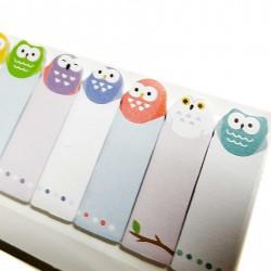 Owls sticky bookmarks
