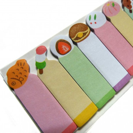 Wagashi sticky bookmarks. JHapanese stationery products.