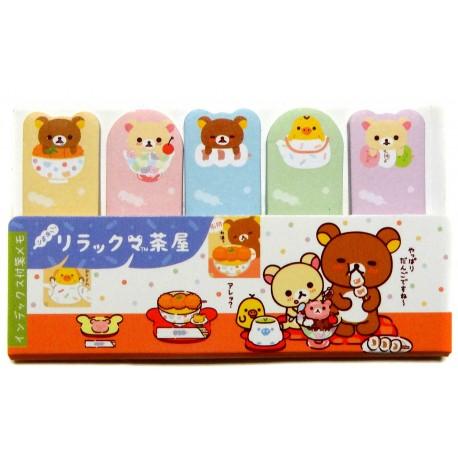 Rilakkuma  sticky bookmarks. JHapanese stationery products.