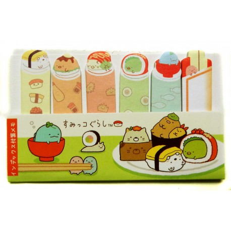 Sumikko Gurashi sticky bookmarks. JHapanese stationery products.