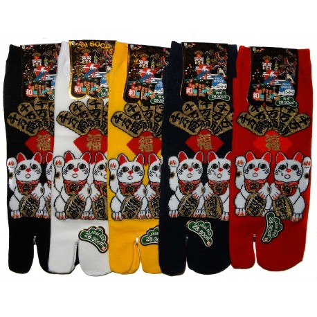 Tabi socks Size 39 to 43 - Maneki Neko