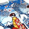 Chaussettes 5 orteils mi-mollet - Du 35 au 39 - Maiko et vague. Chaussettes orteils japonaises.