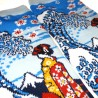 Crew 5-toes socks - Size 35 to 39 - Maiko and great wave. Japanese split toes socks.