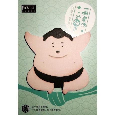 Sumotori sticky memo. Japanese stationery products.