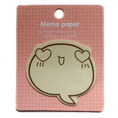 Love Emoji sticky memo. Japanese stationery products.