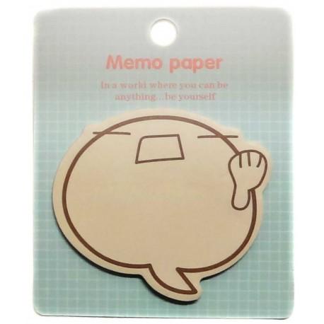 Anger Emoji sticky memo. Japanese stationery products.