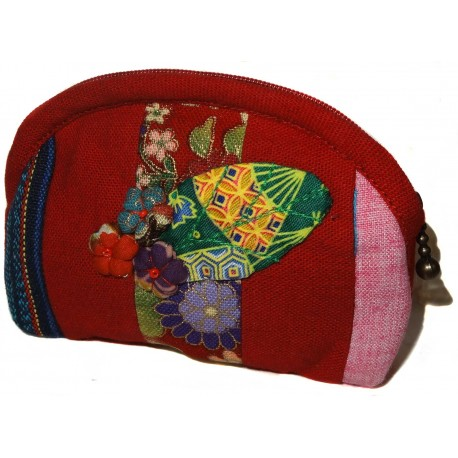 Porte-monnaie Koto Asobi - Rouge. Accessoires mode de mode japonaise