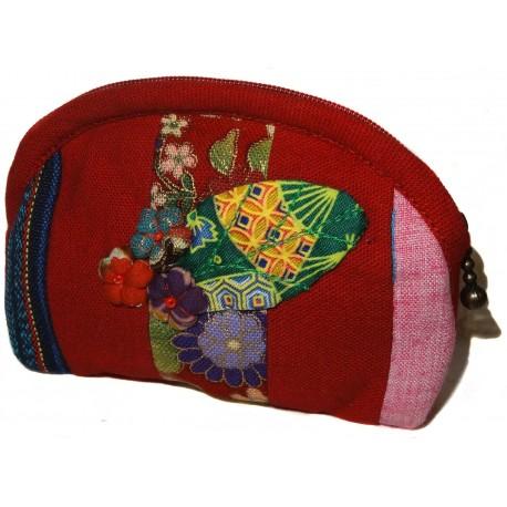 Coin purse Koto Asobi - Red. Japanese fashion accessories